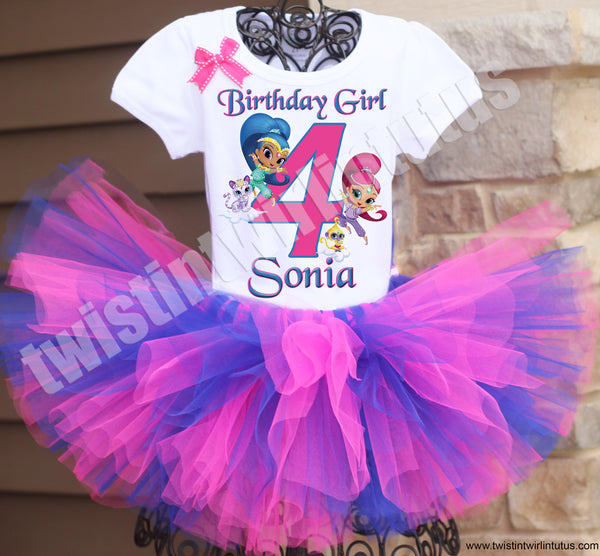 Shimmer And Shine Birthday Tutu Outfit Twistin Twirlin Tutus