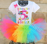 Rainbow Shopkins Birthday Tutu Outfit