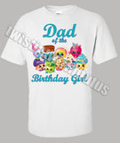 Shopkins Dad Birthday Shirt