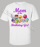 Shopkins Mom Birthday Shirt