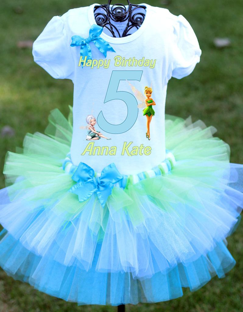 Tinkerbell Birthday Outfit Tiered Tutu Secret of the Wings