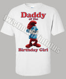 Smurf Dad Birthday Shirt