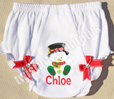 Snowman Christmas Bloomers