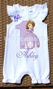 Princess Sofia Birthday Romper