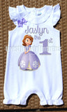 Sofia the First Birthday Romper