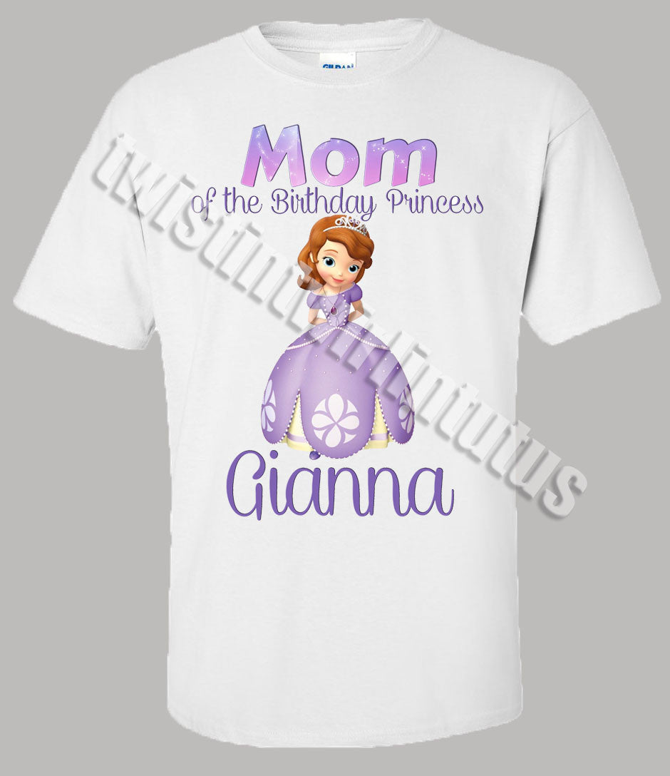 Adult Princess Sofia Birthday Shirt