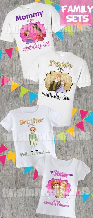 Sofia the First Family Shirt Set