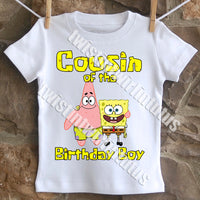 Spongebob Cousin Birthday Shirt