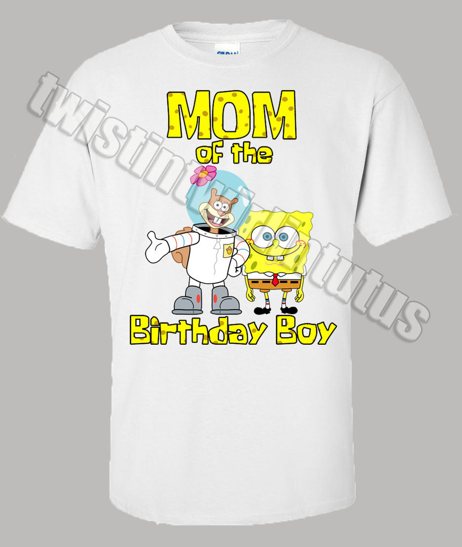 SpongeBob Mom Birthday Shirt