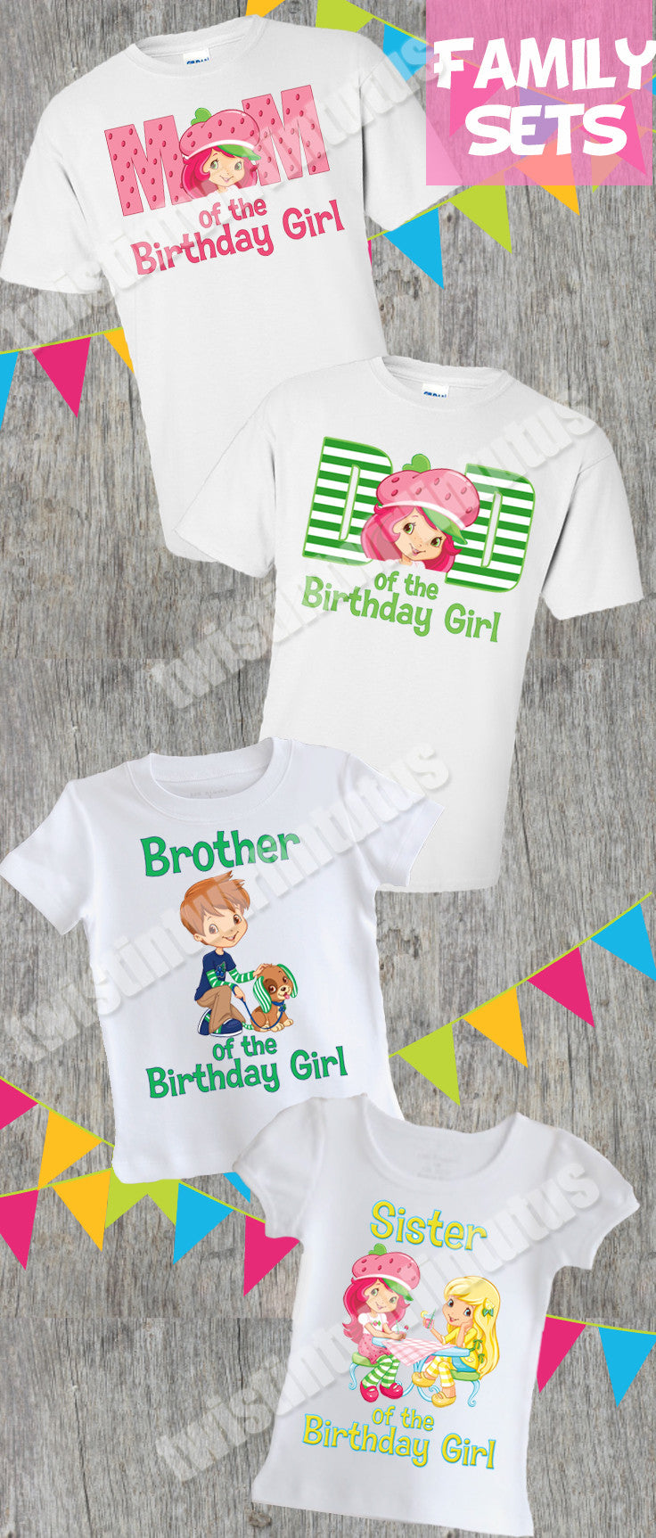 Strawberry Shortcake Family Birthday Shirts
