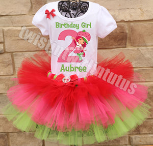 Strawberry Shortcake Birthday Tutu