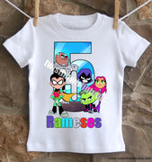 Teen Titans Go Birthday Shirt