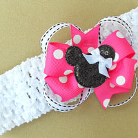 Pink Minnie Mouse Headband