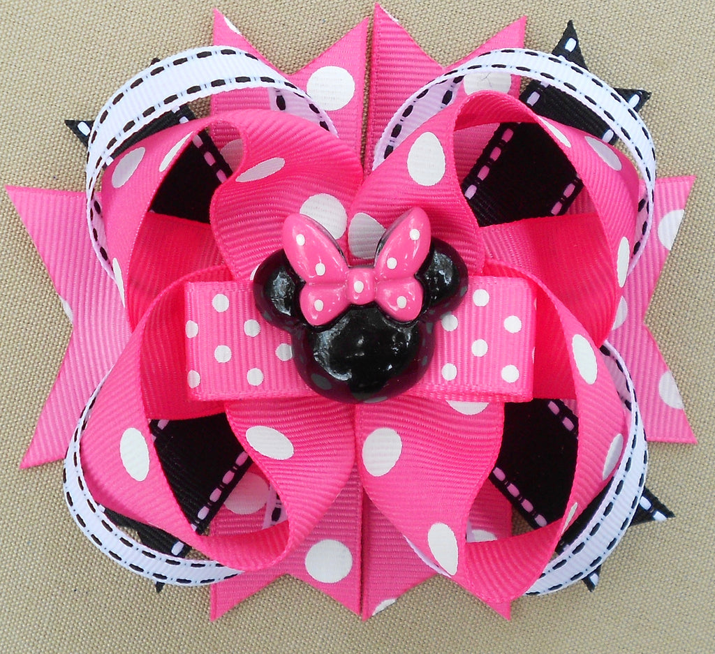 Light Pink Minnie Hair Bow
