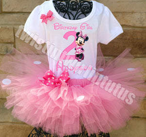 Light Pink Minnie Mouse Birthday Outfit