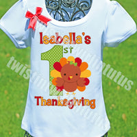 Girls First Thanksgiving Shirt