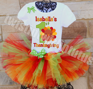 Babys First Thankgiving Tutu Outfit