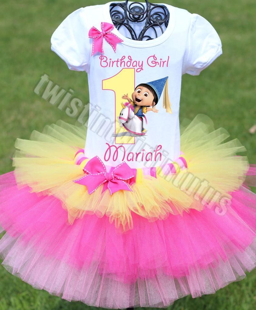 Dispicable Me Agnes Birthday Outfit Tiered Tutu