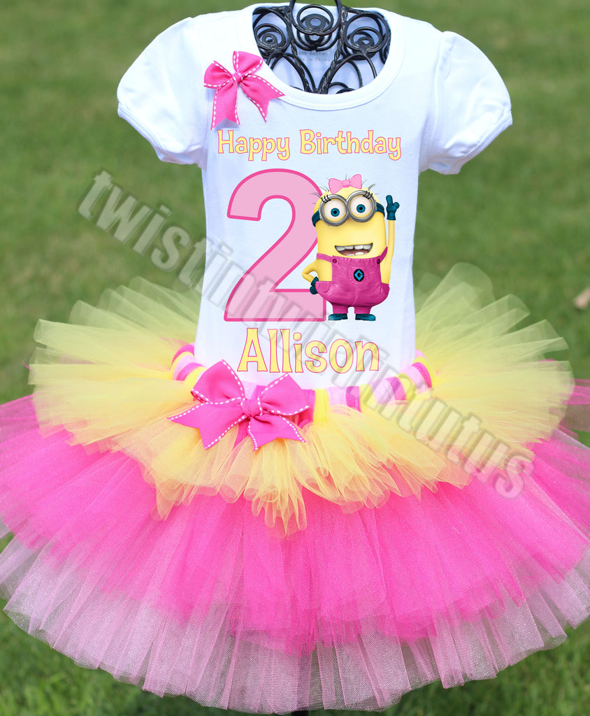 Minion Birthday Outfit Tiered Tutu
