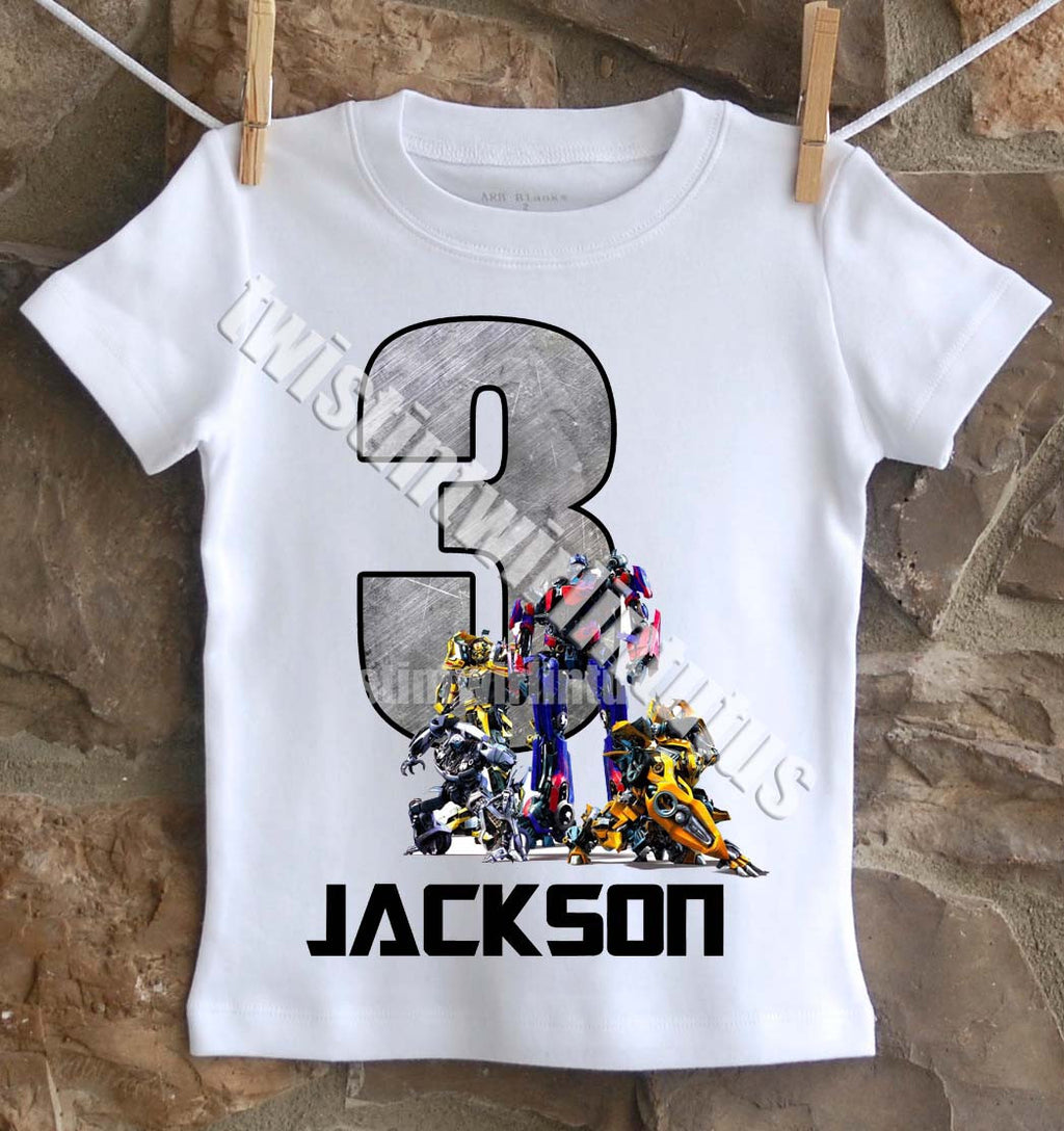 Transformers Birthday Shirt