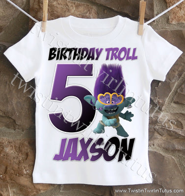 Boys Trolls 2 Birthday Shirt