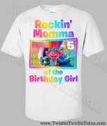 Trolls Mom Birthday Shirt