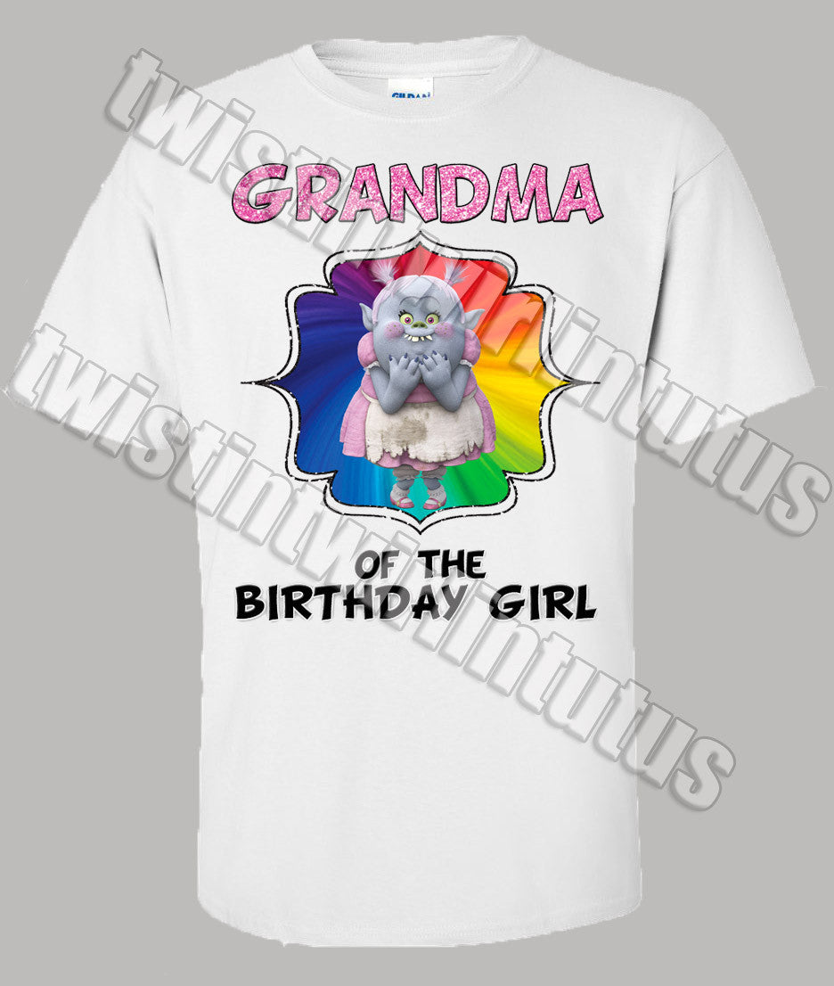 Trolls Grandma Birthday Shirt