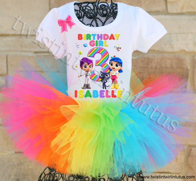 True and the Rainbow kingdom birthday tutu outfit
