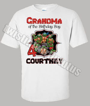 Adult Ninja Turtles Birthday Shirt Grandma