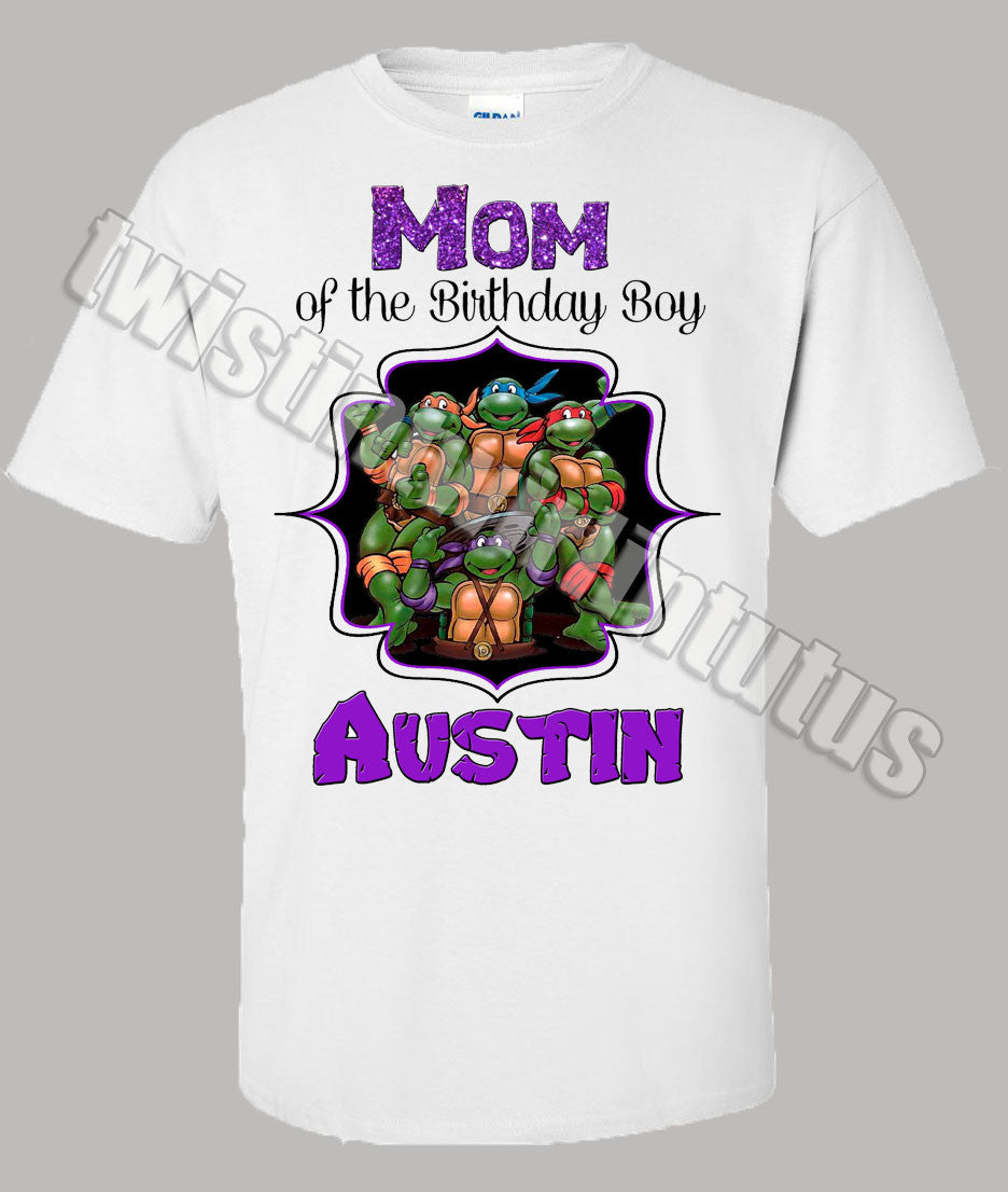 Adult Ninja Turtles Mom Birthday Shirt
