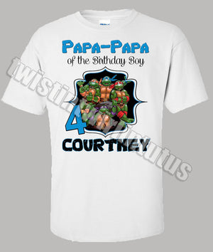 Adult Ninja Turtles Birthday Shirt Papa