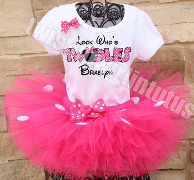 Minnie Mouse Twodles birthday outfit