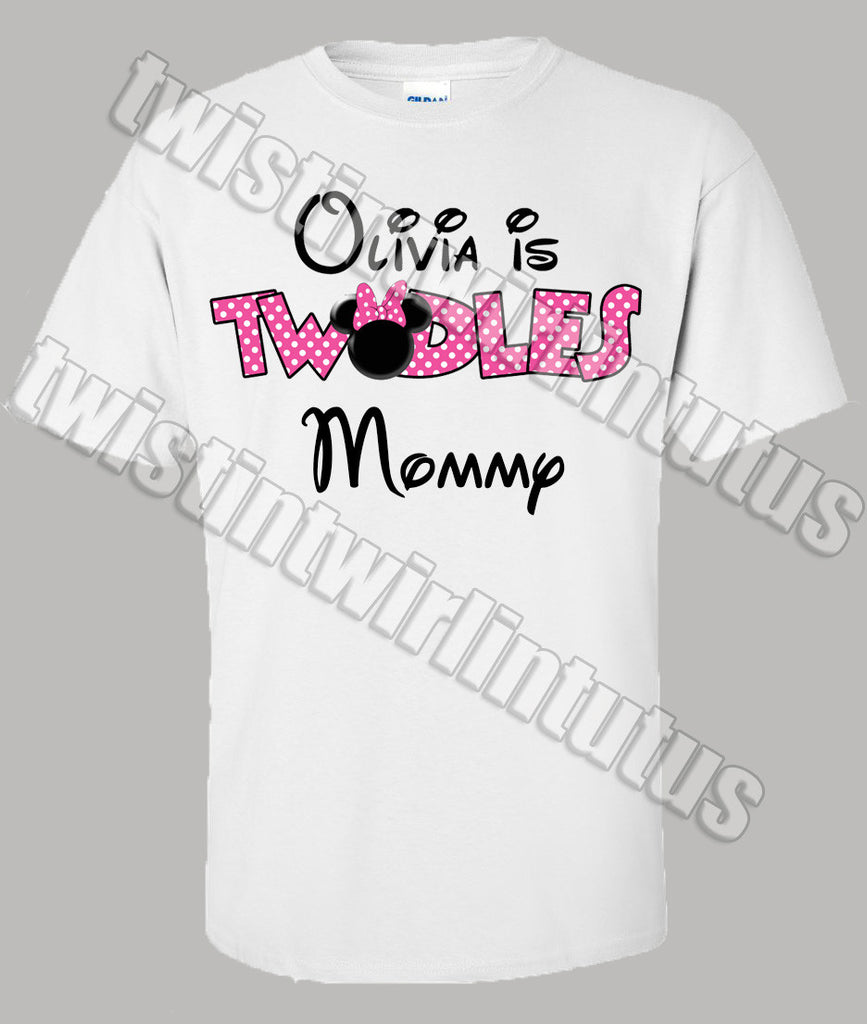 Minnie Mouse Twodles Mom Shirt