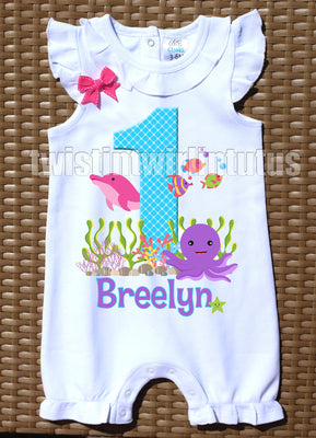 Under the Sea Birthda Romper
