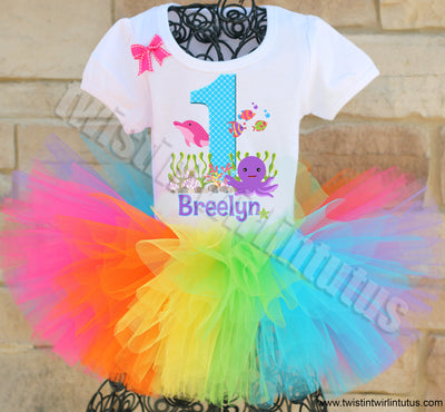 Rainbow Under the Sea Birthday Outfit