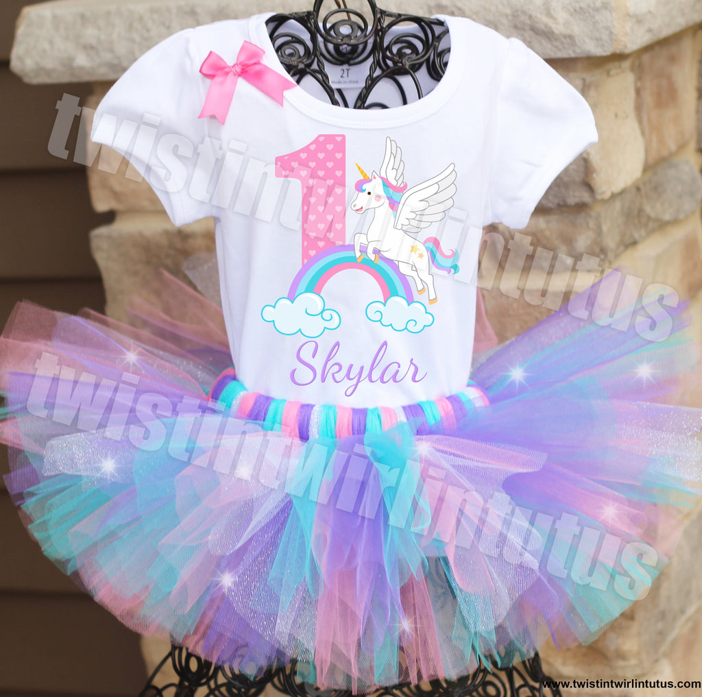 Unicorn Birthday Tutu Outfit