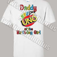 Uno Daddy Birthday Shirt