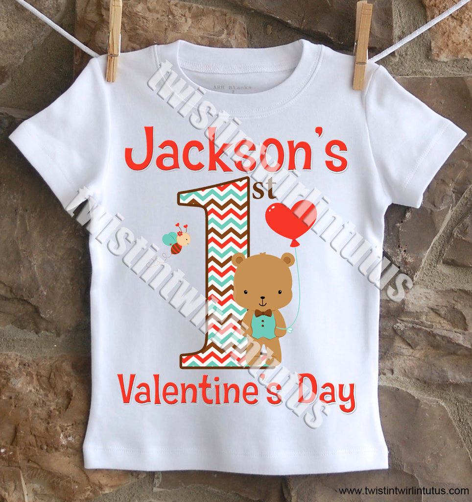 Boys First Valentine's Day Shirt