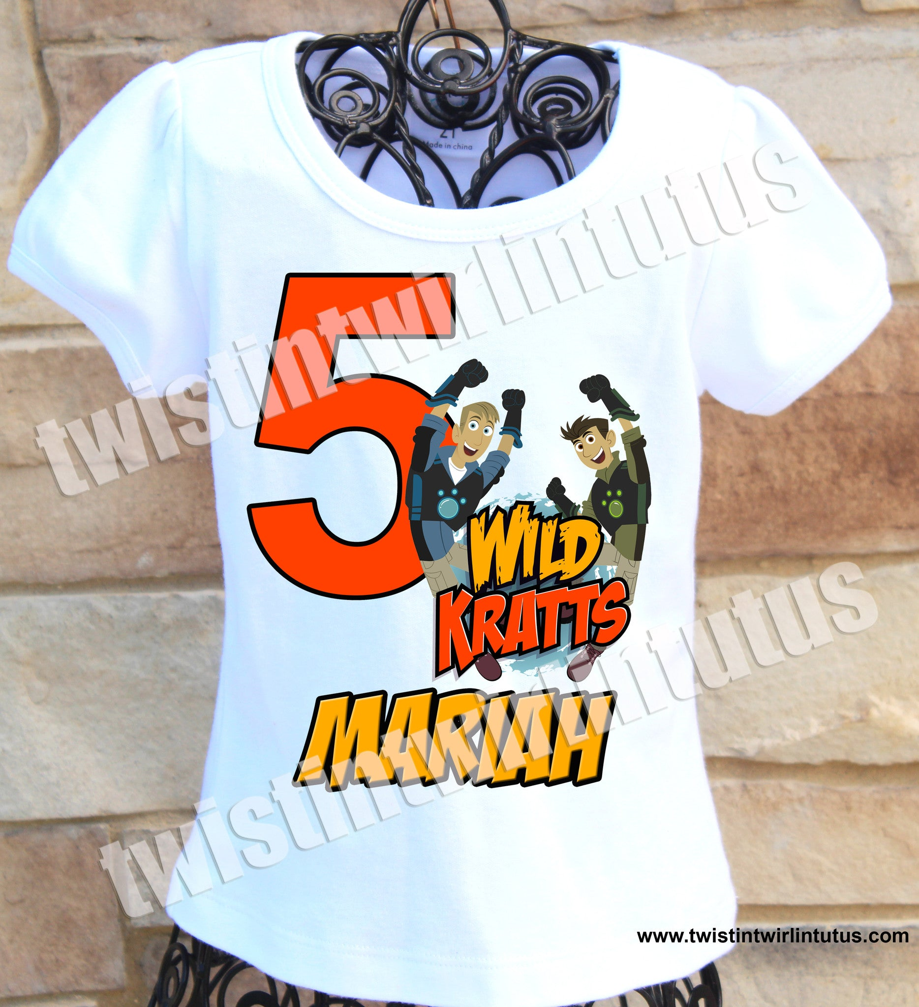 Girls Wild Kratts Birthday Shirt