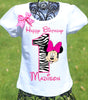 Zebra Minnie Birthday Shirt