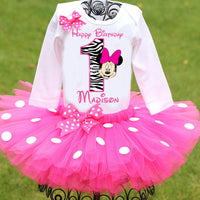 Zebra Minnie Birthday Outfit