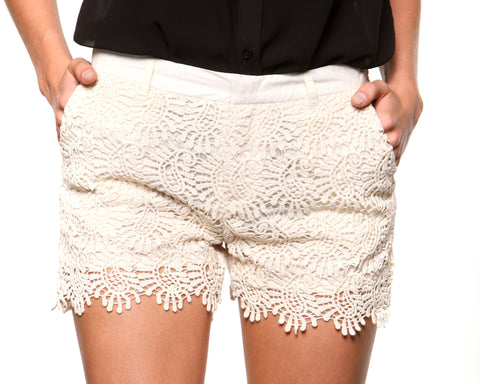 Luscious Lace Shorts - KISSUE