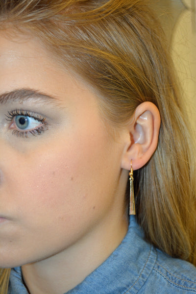 Gold Triangle Earrings - KISSUE