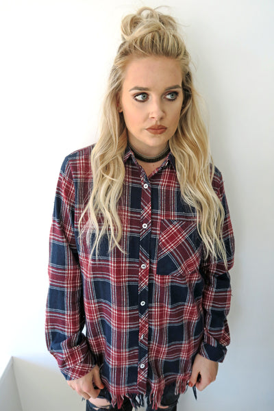 Plaid Vibes Top