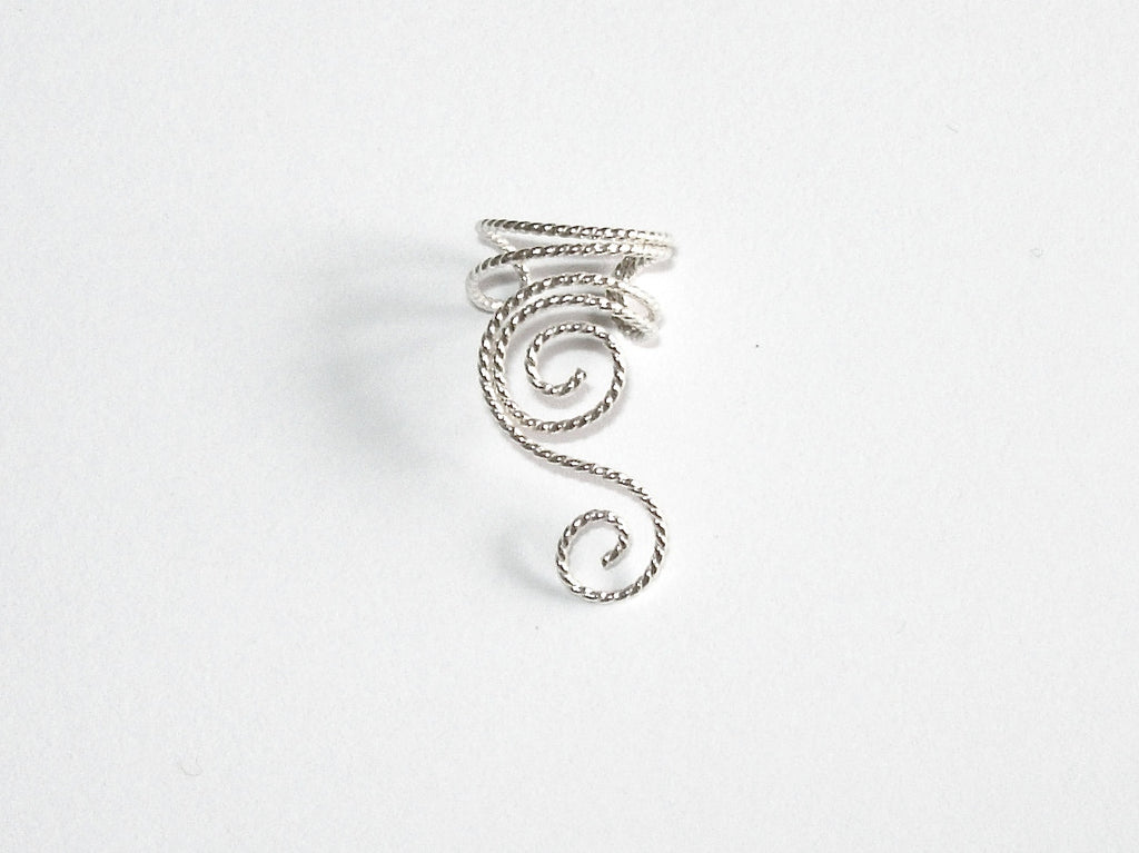 Twisted Wire Sterling Silver Ear Cuff, Right, Left or One of Each!