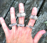 Sterling Silver and Clear Quartz Rings