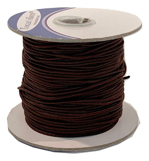 Elastic Cord - DARK BROWN - 1.2MM (50 Yards)