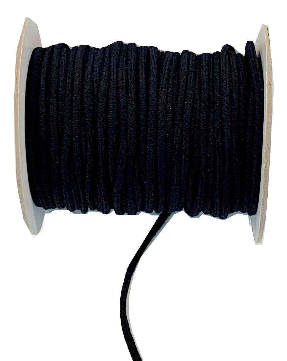 Elastic Cord - BLACK - 3MM (40 Yards) - SOFT