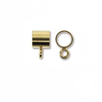5MM Pendant Slider:   Cylinder:  Gold Plate