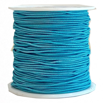 Elastic Cord 1mm Aquamarine 20 Yds Tangles N Knots